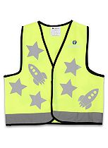 LittleLife Reflective Safety Vest - Yellow Rocket - Small