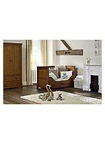 Silver Cross Canterbury Cot Bed & Wardrobe - Oak