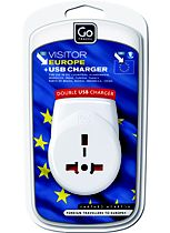 Go Travel adaptor with USB ports