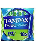 Tampax Compak Pearl Super Applicator Tampons x18