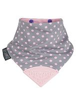 Cheeky Chompers Neckerchew - Polka Pink