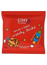 Ella's Kitchen Carrots + Lentils Crunchy Sticks Multigrain Crispy Snacks 15g