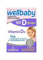 Vitabiotics Wellbaby Vit D Drops 4 Months to 4 Years 30ml