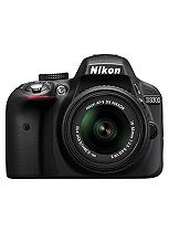 Nikon D3300 (18- 55mm VR Lens) (24.2MP, 3 inch LCD Screen) Digital SLR Camera- Black