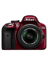 Nikon D3300 (18- 55mm VR Lens) (24.2MP, 3 inch LCD Screen) Digital SLR Camera- Red