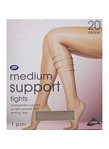 Boots Medium Support Tights 20 Denier Natural Tan (1 pair)