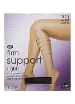 Boots Firm Support Tights 30 Denier Black (1 pair)