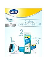 Scholl Velvet Smooth Pedi 3-Step Perfect Feet Kit
