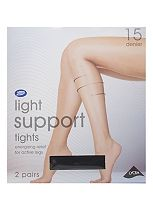 Boots Light Support Tights 15 Denier Black