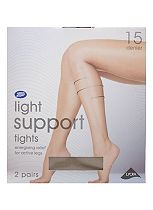Boots Light Support Tights 15 Denier Natural Tan