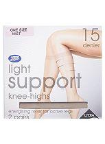 Boots 15 Denier Light Support Mist Knee Highs 2 Pair Pack