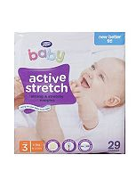 Boots Baby Active Stretch Nappies Size 3 Midi Carry Pack - 29 Nappies