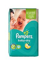 Pampers Baby Dry Size 3+ (Midi Plus) Essential Pack 47 Nappies
