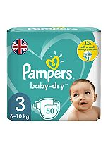 Pampers Baby Dry Size 3 (Midi) Essential Pack 50 Nappies