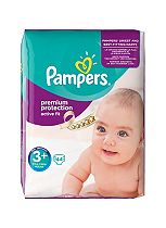 Pampers Active Fit Size 3+ (Midi Plus) Essential Pack 44 Nappies