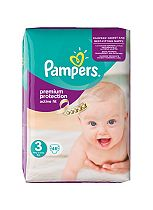 Pampers Premium Protection Active Fit Size 3 Essential Pack - 46 Nappies