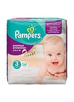 Pampers Premium Protection Active Fit Size 3 Carry Pack - 28 Nappies