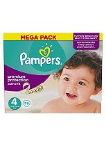 Pampers Active Fit Size 4 Mega Box 78 Nappies