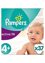 Pampers Premium Protection Active Fit Size 4+ Essential Pack - 37 Nappies