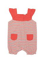 Baby Girls Red Striped Romper - Mini Club