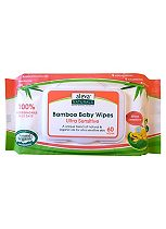 Aleva Naturals Bamboo Baby Ultra Sensitive Wipes - 60 Wipes