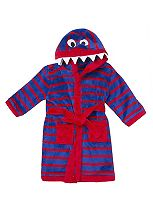 Mini Club Boys Monster Hooded Dressing Gown