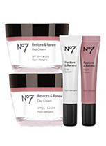 No7 Restore & Renew Serum and Day Cream Regime Bundle