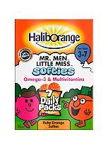Haliborange Softies 7 Mini Packs - 7 x 5 Ruby Orange Softies