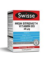 SwisseUltiplus High Strength Vitamin D3 25ug - 100 Capsules
