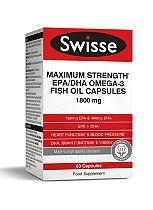 Swisse Ultiplus Maximum Strength EPA/DHA Omega-3 Fish Oil Capsules 1800mg - 60 capsules