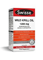 SwisseUltiplus Wild Krill Oil 1000mg - 30 Capsules
