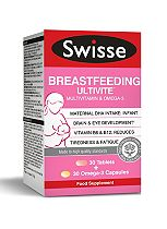 Swisse Breastfeeding Ultivite - 30 Tablets + 30 Omega-3 Capsules