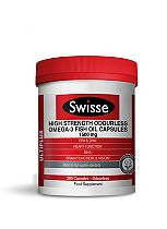 Swisse High Strength Odourless Omega-3 Fish Oil Capsules - 1500mg