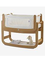 SnuzPod² 3 in 1 Bedside Crib and Natural Mattress - Natural