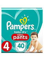 Pampers Baby-Dry Pants Size 4 Essential Pack 40 Nappies