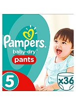 Pampers Baby-Dry Pants Size 5 Essential Pack 36 Nappies