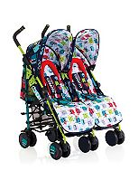 Cosatto Supa Dupa Double Stroller Cuddle Monster 2