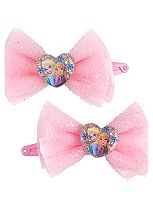 Frozen Glitter Bow Snap Clips 2 pack