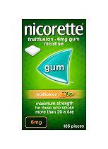 Nicorette Fruitfusion 6mg Gum - 105 Pieces