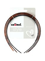 Scunci Style Alice Bands Torte, Black, Brown 3 Pack
