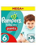 Pampers Baby-Dry Pants Size 6 Monthly Saving Pack 76 Nappies