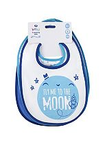 Boots Baby Weaning Bibs 4 Pack - Blue