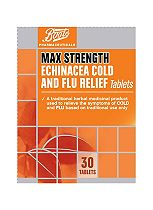 Boots Max Strength Echinacea Cold and Flu Relief - 30 tablets