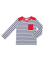 Mini Club Boys T Shirt Cream Stripe
