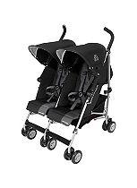 Maclaren Twin Triumph Stroller - Black/Charcoal
