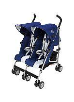 Maclaren Twin Triumph Stroller - Medieval Blue/Silver