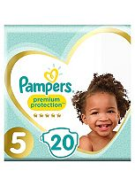 Pampers Premium Protection Size 5 Carry Pack 20 Nappies