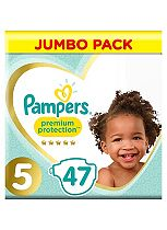 Pampers Premium Protection Size 5 Jumbo Pack 47 Nappies