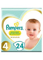 Pampers Premium Protection Size 4 Carry Pack 24 Nappies