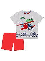 Mini Club Boys Short Pyjamas Plane